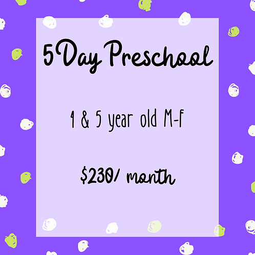 5 Day Preschool