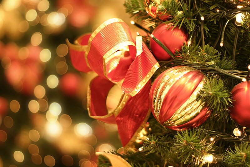 Enfeites Vermelhos de Natal