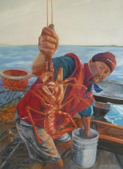 Rock Lobster. Pastel by Jessie