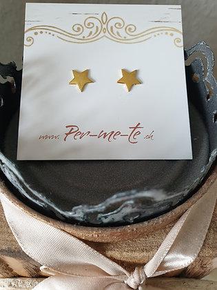 Ohrstecker Stern mit spitzEnden  in  Silber925 vergoldet