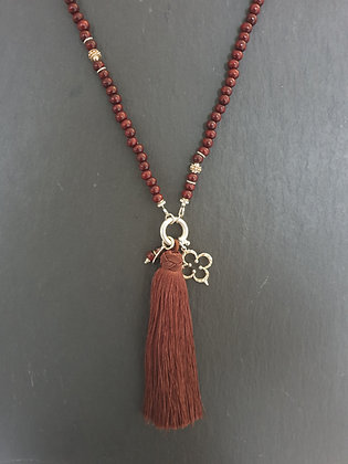 Holz Kettel  Mahagoni  lang Silber925