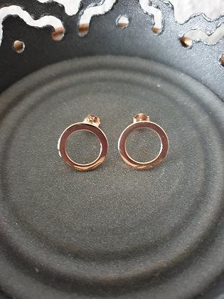 Ohrstecker  Kreis Silber925 roségold