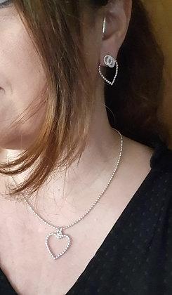 Kette Kügeli in div. Längen mit Herz oder Venusblüte Anhänger Silber925