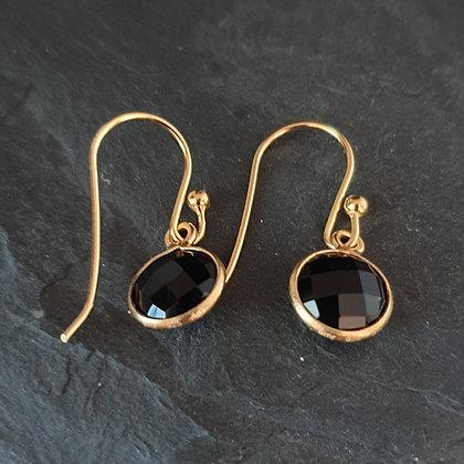 Ohrring Puntino vergoldet Onyx