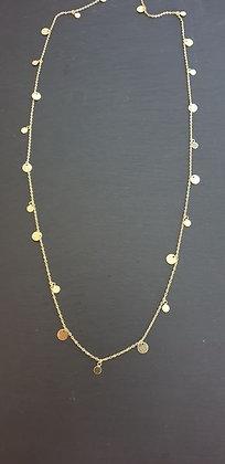 Halskette Plättli 90cm Silber925 vergoldet