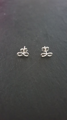 Infinity Ohrstecker mit in  Silber925