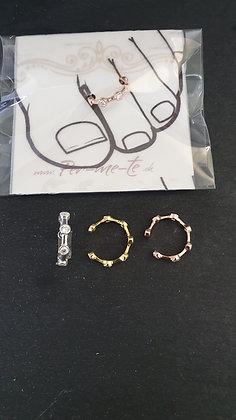 Zehenring Zirkon Silber 925 oder Vergoldet oder Roségold
