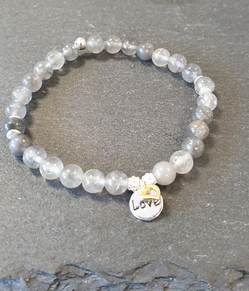 Armband Silberquarz Love