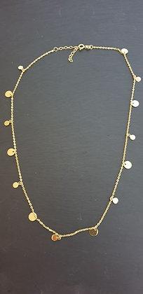 Halskette Plättli  42+4cm Silber925 vergoldet