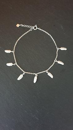 Fussketten mit Federli Silber 925