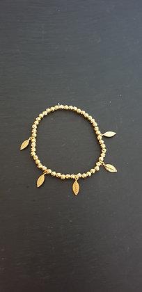 Armband  5er  Foglietta Silber925 vergoldet
