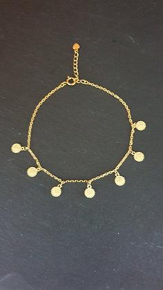 Fussketten Sole  Silber 925 vergoldet
