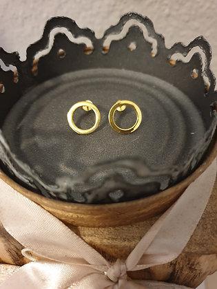 Ohrstecker  Kreis Silber925 vergoldet