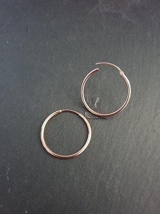 Ohrring Creola 30mm S925  rosé vergoldet