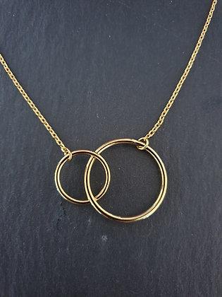 Kette Doppel Kreis Uniti Silber925 vergoldet