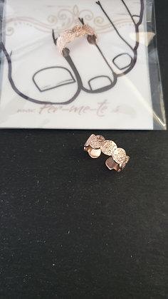 Zehenring Sand Silber 925 roségold