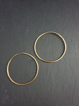 Ohrring Creola 50mm S925 vergoldet
