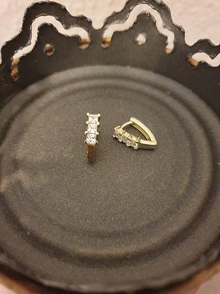 Ohrstecker Angolo  Silber925 vergoldet