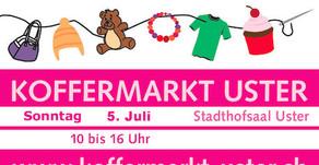 Koffermarkt in Uster Sonntag 5. Juli   2020