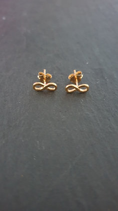 Infinity Ohrstecker mit in  Silber925 roségold