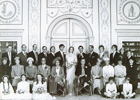 The official family photograph of the wedding of Norton (then Lord Romsey) & Miss Penelope Eastwood