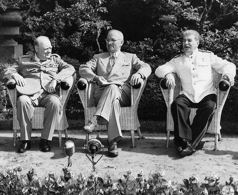 The Potsdam Conference - Prime Minister Winston Churchill, President Harry Truman & Marshal Joseph Stalin