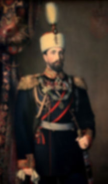 A portrait of Alexander I, The Prince of Bulgaria by Karl Dielitz