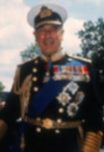 Mountbatten in the dress uniform of an Admiral of the Fleet 