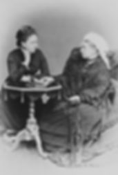 Princess Beatrice (left) with her aged mother - Queen Victoria ​