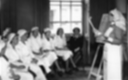 Edwina at a St John's Ambulance Brigade training class in 1940