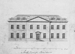 'Capability' Brown's design of the South Front of Broadlands © Southampton University -  Broadlands Archive