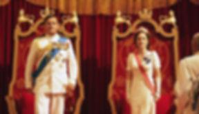 Hugh Bonneville & Gillian Anderson as Mountbatten and Edwina
