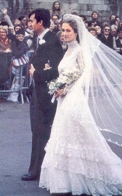Norton & Penelope - now Earl & Countess Mountbatten of Burma  following their wedding at Romsey Abbey