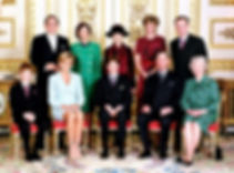 The confirmation of Prince William of Wales, later The Duke of Cambridge in 1982 -  back row - King Constantine II,  The King of the Hellenes; The Lady Susan Hussey (Baroness Hussey of North Bradley);  Princess Alexandra, The Hon. Lady Ogilvy;  The Duchess of Westminster & Norton; front row (seated) - Prince Henry of Wales; Diana, Princess of Wales; Prince William;  Prince Charles, The Prince of Wales & Queen Elizabeth II 