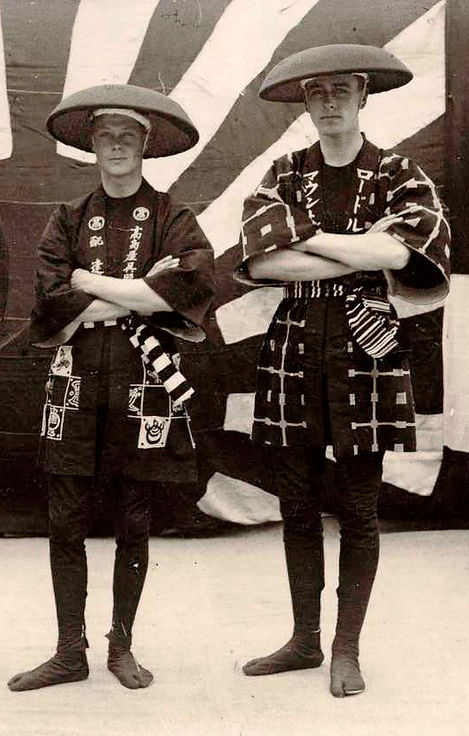 Mountbatten (right) with his cousin Prince Edward, The Prince of Wales whilst in Japan on the Prince's Empire Tour