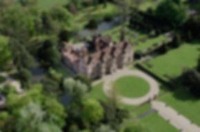An aerial photograph of Moyns Park 