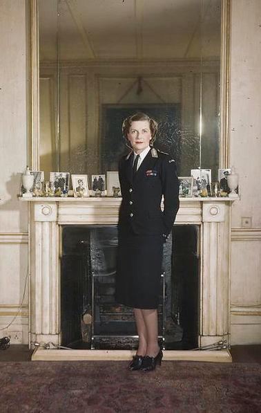 Edwina in her St John's Ambulance Brigade uniform 