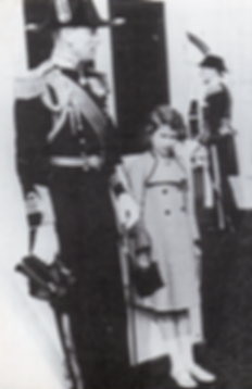 Mountbatten with a young Princess Elizabeth (now Queen Elizabeth II) - daughter of King George VI and Heiress Presumptive 