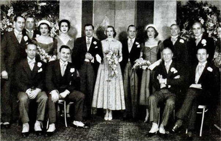 ​ A formal photograph following the wedding of David & Romaine, The Marquess & Marchioness of Milford Haven