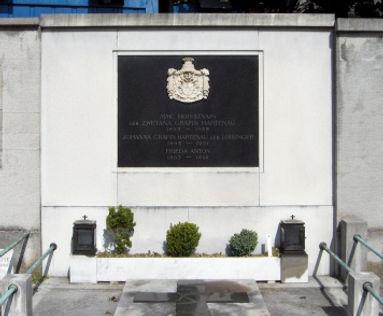 The grave of Johanna, Countess VON Hartenau and their daughter Zwetana in Graz, Austria 