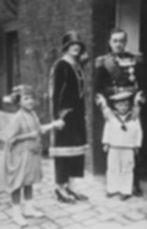 George & Nadejda with their two children -  Lady Tatiana (left) and David, Earl of Medina (right)