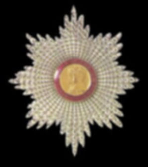 The insignia of a Dame Grand Cross of the Order of the British Empire (GBE) 