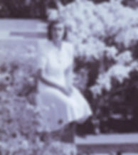 Pamela (aged 17) in the gardens of the Viceroy's House New Delhi, India ​