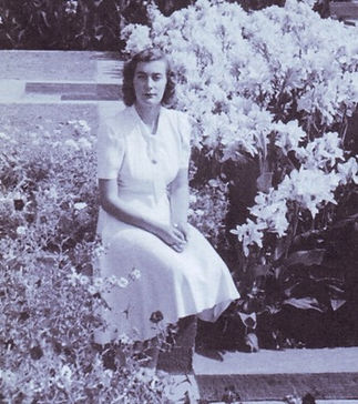 Pamela (aged 17) in the gardens of the Viceroy's House New Delhi, India 
