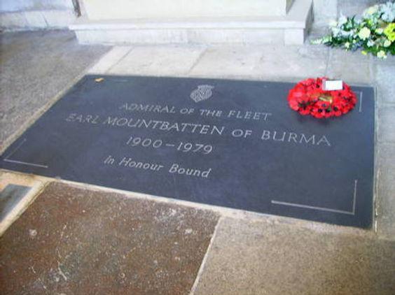 Mountbatten's grave within Romsey Abbey 