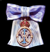 The insignia of the Imperial Order of the Crown of India (CI) ​