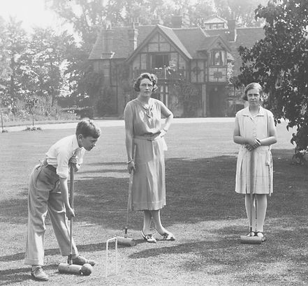 Nadejda (centre) with her two children David (left) and Tatiana (right) at their home Lynden Manor, Holyport, Bray, Berkshire 