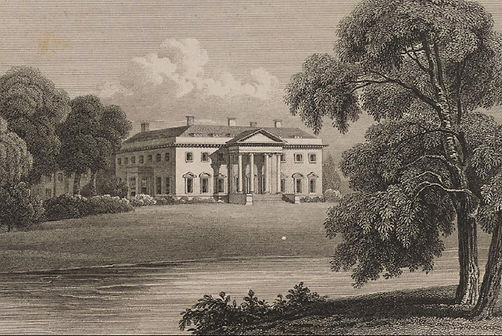 ​ An early 19th Century engraving of Broadlands ​