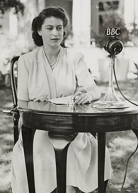 Princess Elizabeth (now Queen Elizabeth II) making a speech in South Africa on her 21st Birthday 