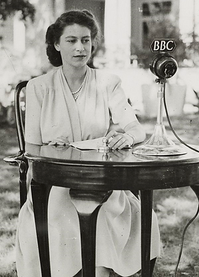 Princess Elizabeth (now Queen Elizabeth II) making a speech in South Africa on her 21st Birthday ​